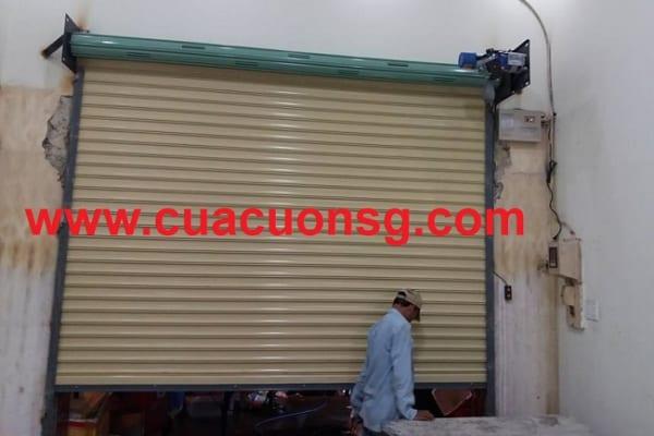 Thi công cửa cuốn Đài Loan sử dụng motor 8 dem