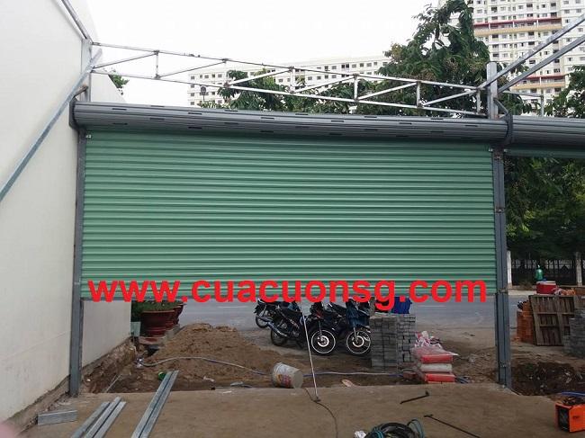 Đơn vị lắp đặt cửa cuốn kéo tay tại TPHCM uy tin